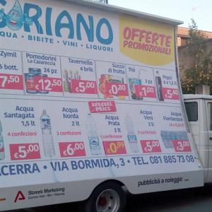 Noleggio camion a vela per pubblicità a Napoli, Caserta e Salerno