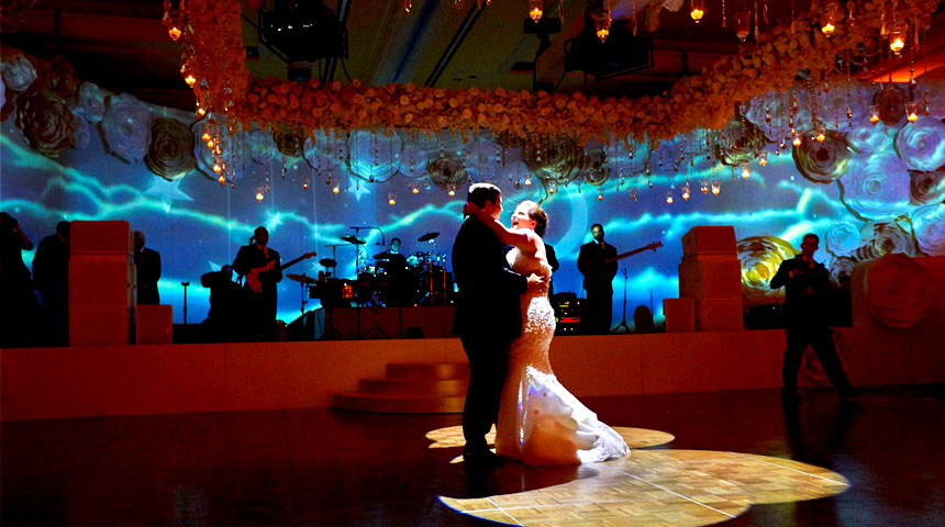 video mapping wedding
